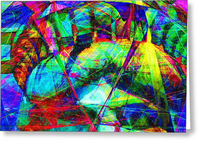 Liberty Head Abstract 20130618 Long Greeting Card by Wingsdomain Art and Photography