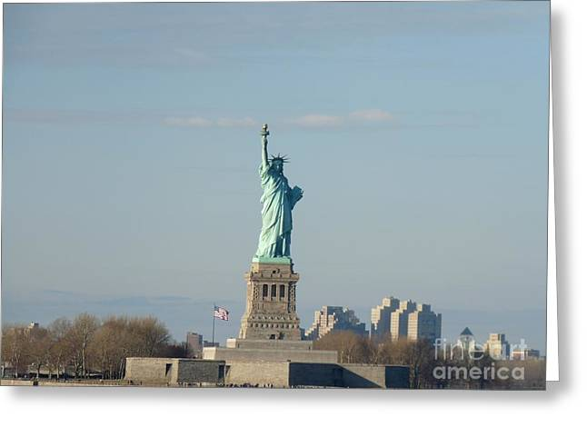 Liberty Herself Greeting Card by Julie Koretz