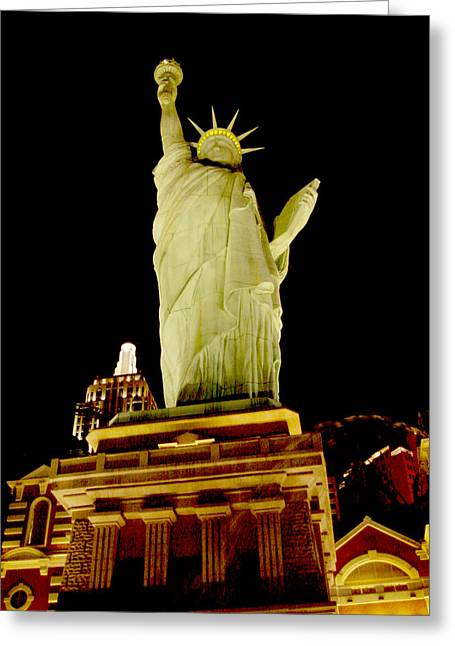 Mietko Greeting Cards - Liberty in Las Vegas Greeting Card by Mieczyslaw Rudek