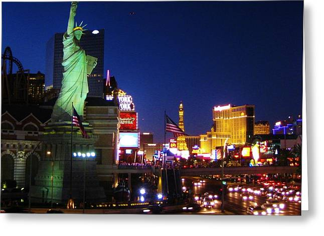 Famous Photographer Greeting Cards - Liberty in Vegas Greeting Card by John Malone