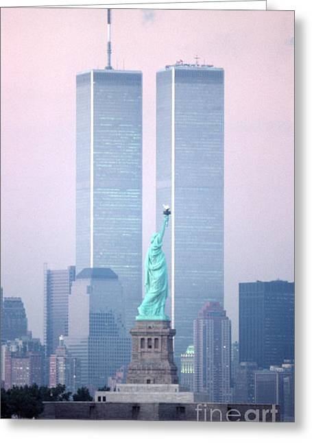 Wtc 11 Greeting Cards - Liberty Memories Greeting Card by Christopher Boswell
