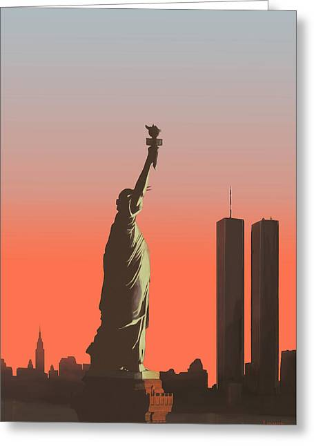 Liberty Greeting Card by Mike Linman