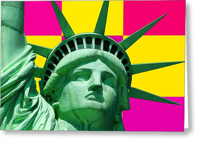 Liberty Greeting Card by Neil Finnemore