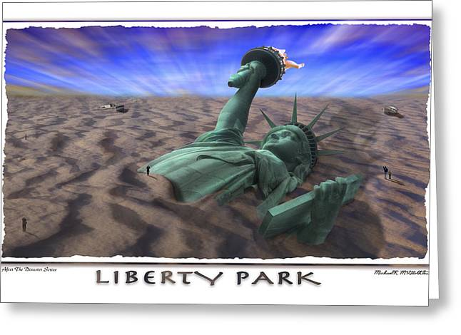 Sand Art Digital Art Greeting Cards - Liberty Park Greeting Card by Mike McGlothlen