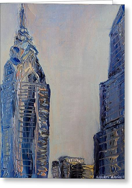Phila Paintings Greeting Cards - Liberty Place Greeting Card by Joseph Levine