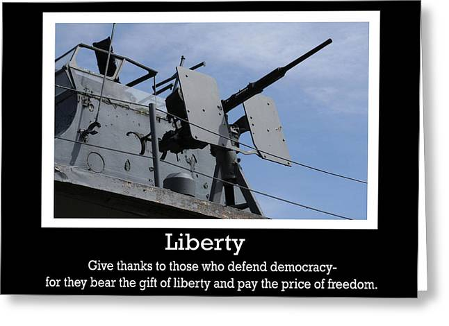 Patrotic Greeting Cards - Liberty Print Greeting Card by Michael Allen