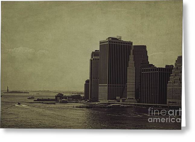 Freedom Towers Greeting Cards - Liberty Scale Greeting Card by Andrew Paranavitana