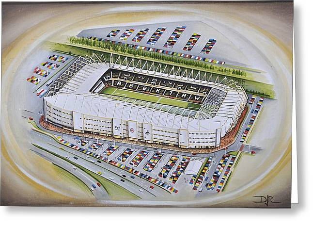 Art Mobile Greeting Cards - Liberty Stadium - Swansea City Greeting Card by D J Rogers