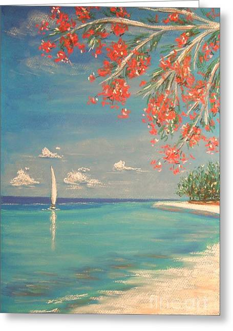 Coastline Pastels Greeting Cards - Liberty Greeting Card by The Beach  Dreamer