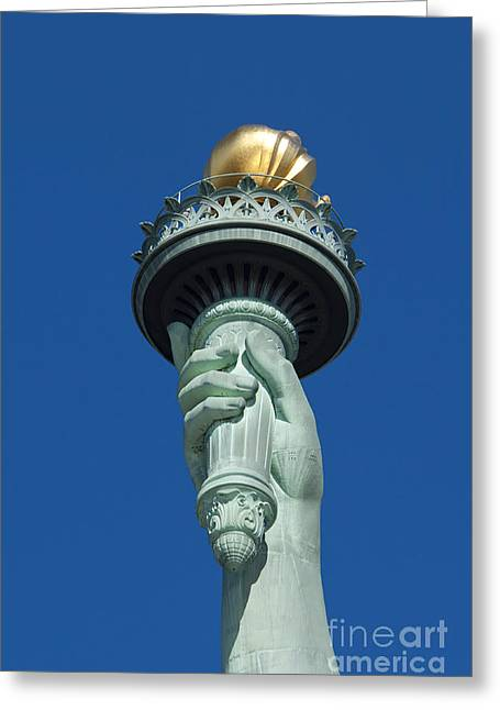 Liberty Torch Greeting Card by Brian Jannsen