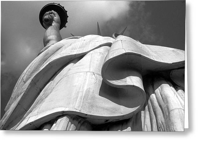 Statue Greeting Cards - Libertys Gown Greeting Card by Keith Marsh