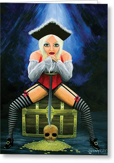 Libido - The Ultimate Conquest Greeting Card by Jenny Kirby