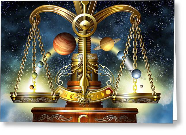 Scale Scales Greeting Cards - Libra Greeting Card by Ciro Marchetti