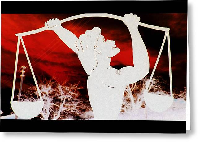 Signed Sculptures Greeting Cards - Libra Greeting Card by The Creative Minds Art and Photography