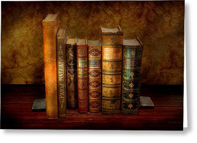 Librarian - Writer - Antiquarian Books Greeting Card by Mike Savad