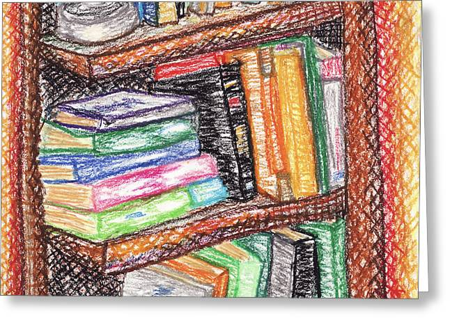 Library Pastels Greeting Cards - Library Greeting Card by Ashley King