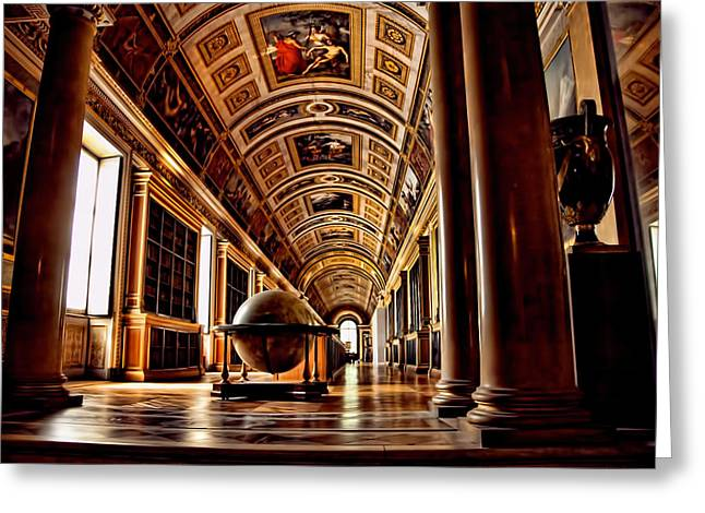 Fontainebleau Greeting Cards - Library - Chauteaux Fontainebleau - France Greeting Card by Jon Berghoff