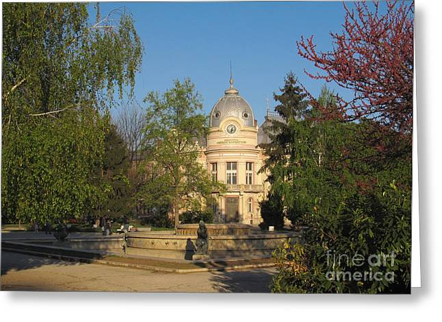 Ruse Greeting Cards - Library in Ruse Bulgaria Greeting Card by Kiril Stanchev
