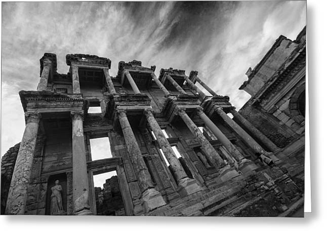 Library Of Celsus Greeting Cards - Library of Celsus at Ephesus Greeting Card by Nigel Forster