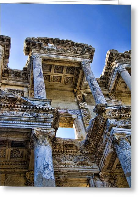 Library Of Celsus Greeting Card by David Smith