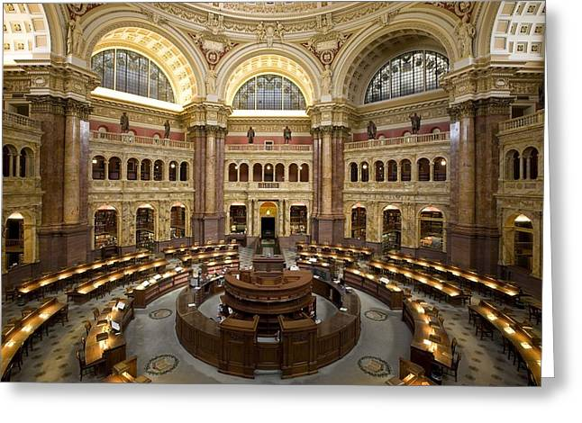 Library Of Congress Greeting Cards - Library of Congress Greeting Card by Mountain Dreams