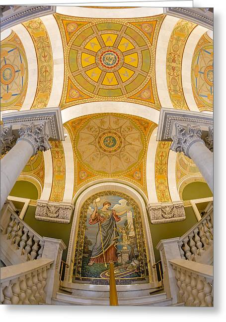Library Of Congress Greeting Cards - Library Of Congress Greeting Card by Susan Candelario