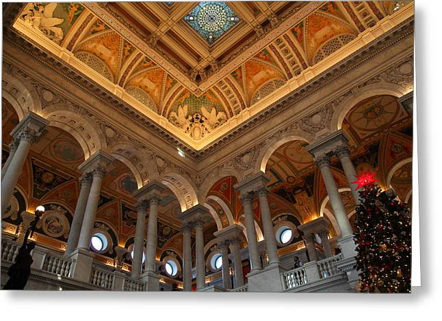 Time Greeting Cards - Library of Congress - Washington DC - 011314 Greeting Card by DC Photographer