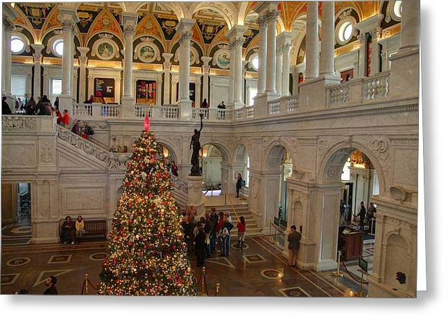 Library of Congress - Washington DC - 011315 Greeting Card by DC Photographer