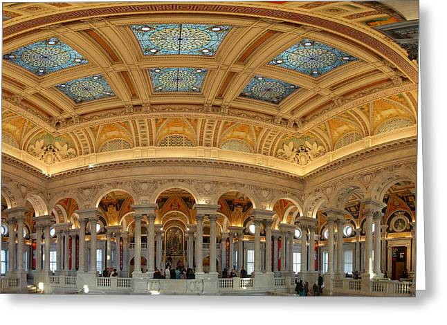Basement Photographs Greeting Cards - Library of Congress - Washington DC - 011322 Greeting Card by DC Photographer
