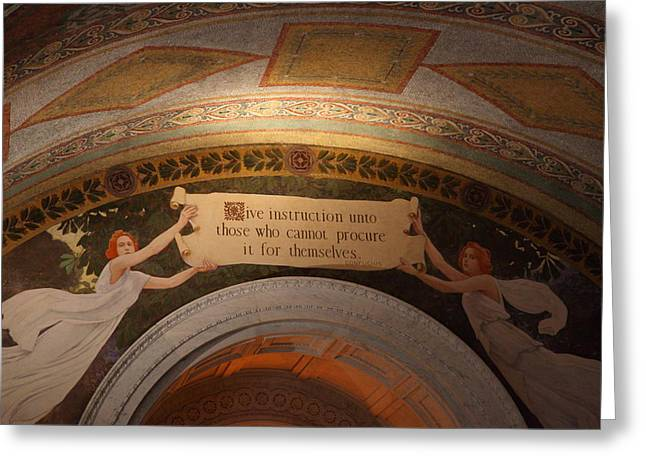 Library of Congress - Washington DC - 01135 Greeting Card by DC Photographer