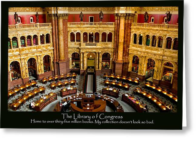 Arlington Greeting Cards - Library Poster Greeting Card by Greg Fortier