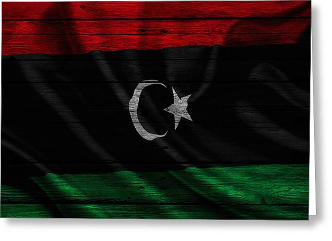 Continent Greeting Cards - Libya Greeting Card by Joe Hamilton
