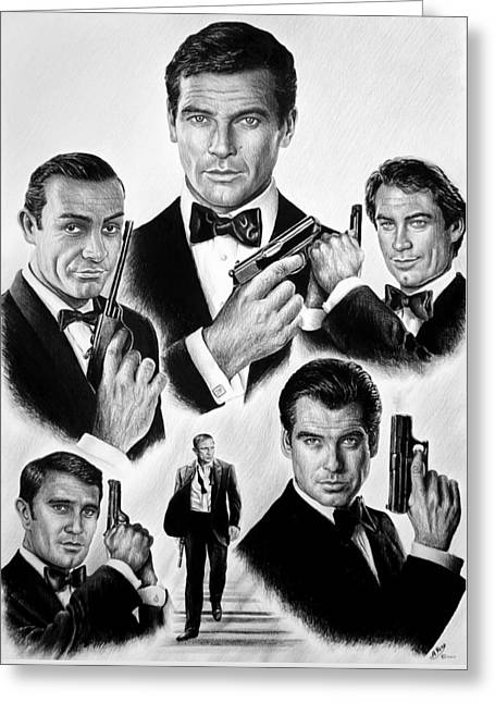 Licence To Kill  Bw Greeting Card by Andrew Read
