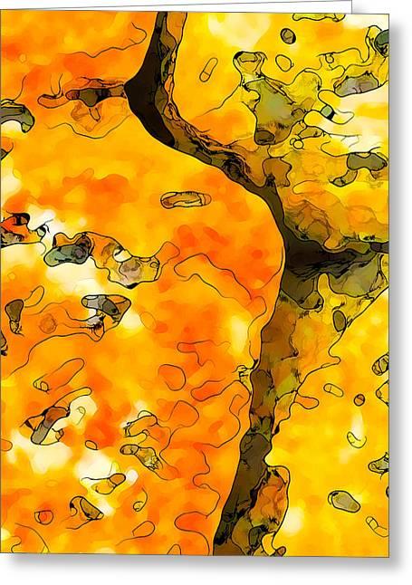 Modern Digital Art Digital Art Greeting Cards - Lichen Abstract 1 Greeting Card by Bill Caldwell -        ABeautifulSky Photography