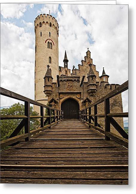 Old Western Photos Greeting Cards - Lichtenstein Castle Drawbridge Greeting Card by Marcia Colelli