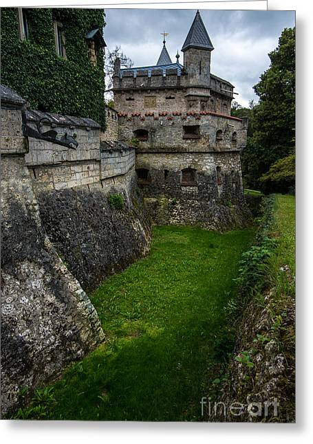 Moat Mountain Greeting Cards - Lichtenstein Castle Moat - Baden Wurttemberg - Germany  Greeting Card by Gary Whitton