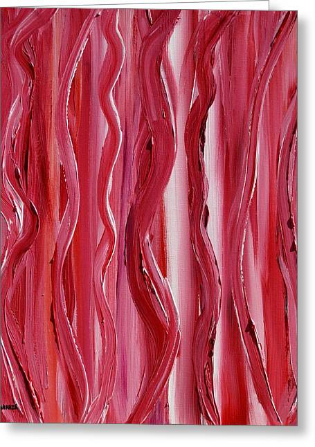 Licorice Paintings Greeting Cards - Licorice Greeting Card by Donna  Manaraze