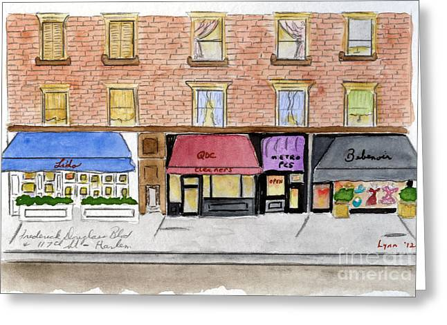 Frederick Douglass Greeting Cards - Lido on Frederick Douglass Blvd Greeting Card by Lynn Lieberman