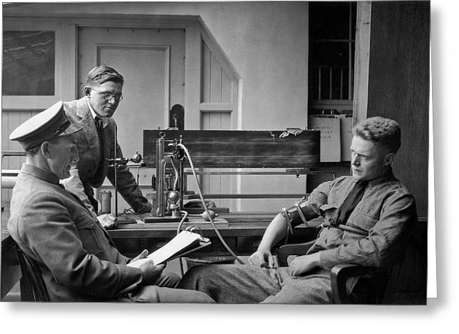 Lie Detector Test Greeting Card by Underwood Archives