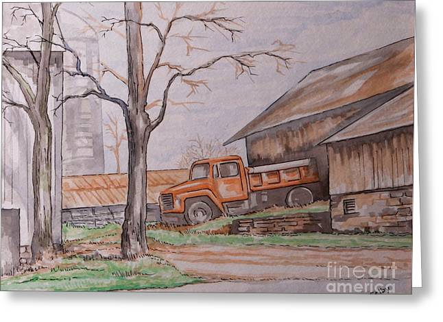 Lewistown Greeting Cards - Liebys Farm Greeting Card by Jack Selby