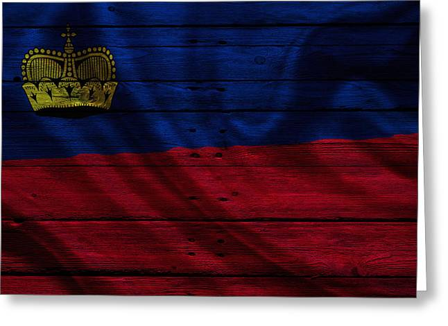 Flag Pole Greeting Cards - Liechtenstein Greeting Card by Joe Hamilton