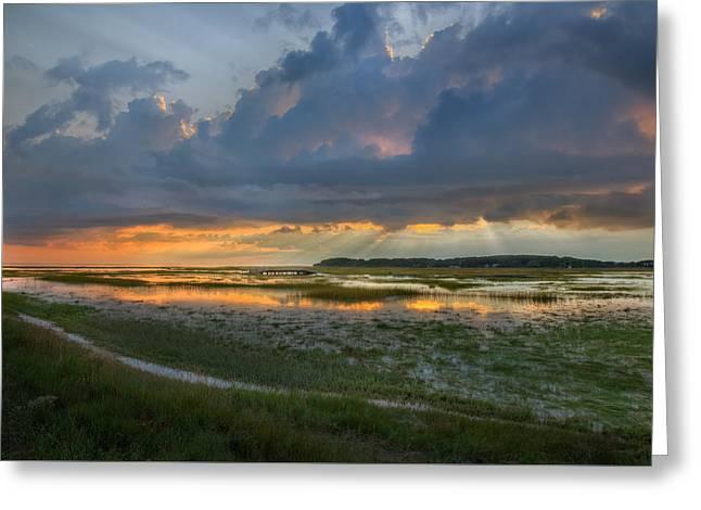 Lieutenant Island Sunset Greeting Card by Bill Wakeley