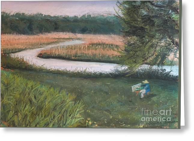 Griswold Ct Greeting Cards - Lieutenant River in Lyme CT Greeting Card by Laura Sullivan
