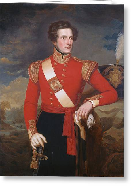 Officers Quarters Greeting Cards - Lieutenant Robert Hay C.1838 Greeting Card by English School
