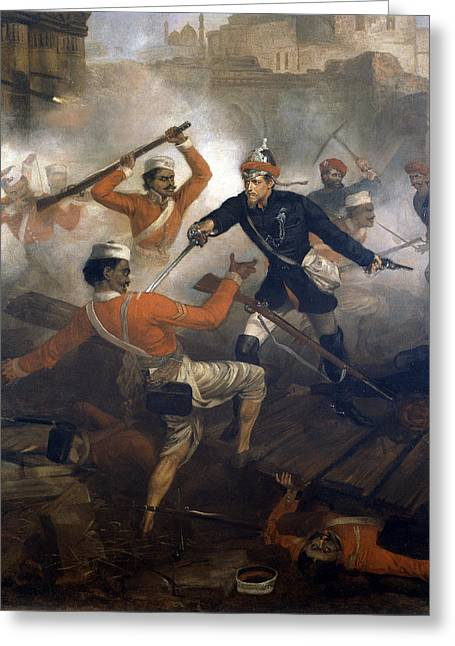 24th Greeting Cards - Lieutenant William Alexander Kerr Greeting Card by Chevalier Louis-William Desanges
