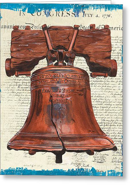 Bell Greeting Cards - Life and Liberty Greeting Card by Debbie DeWitt