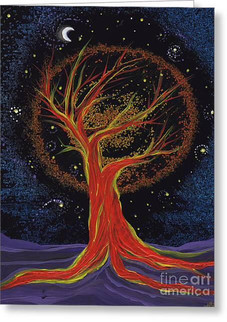 Mystic Art Greeting Cards - Life Blood Tree by jrr Greeting Card by First Star Art