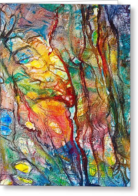 Organic Forms Greeting Cards - Life Colors Greeting Card by Patricia Allingham Carlson