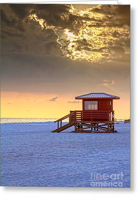 Gulf Of Mexico Greeting Cards - Life Guard 1 Greeting Card by Marvin Spates