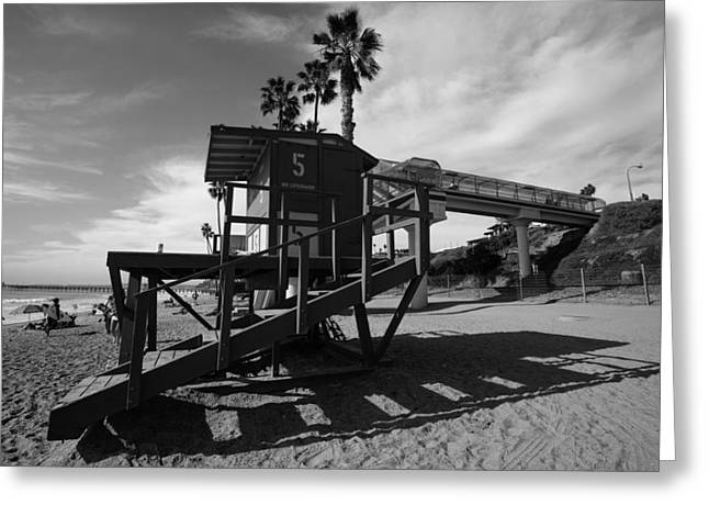 San Clemente California Greeting Cards - Life Guard Stand Greeting Card by Paul Scolieri